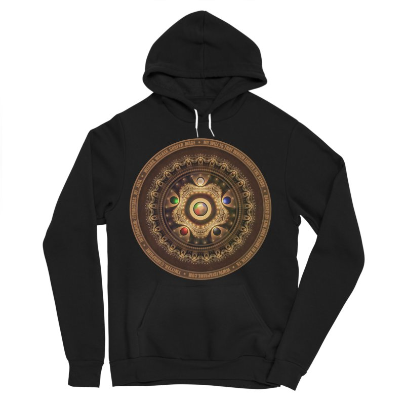 The Mox Fractal Jeweled Colors of Magic the Gathering Women's Sponge Fleece Pullover Hoody by The Fractal Art of San Jaya Prime