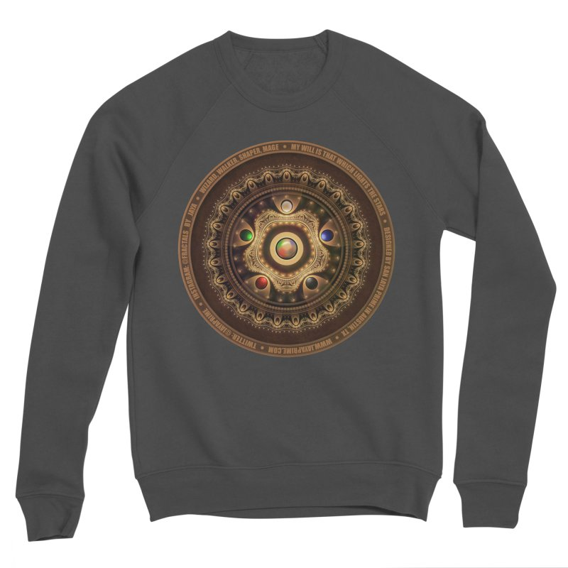 The Mox Fractal Jeweled Colors of Magic the Gathering Men's Sponge Fleece Sweatshirt by The Fractal Art of San Jaya Prime