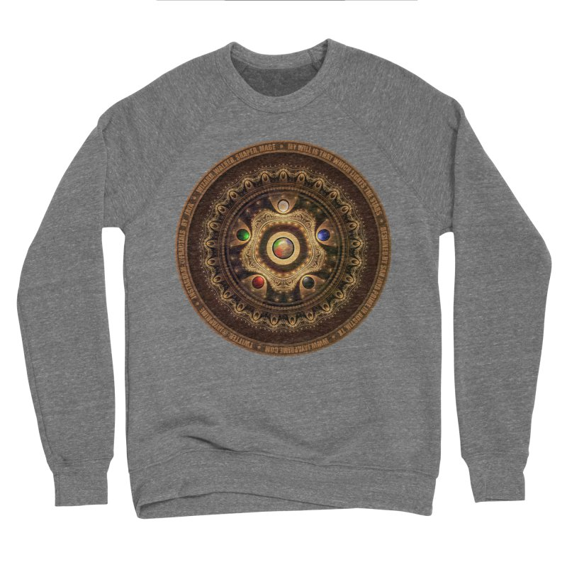The Mox Fractal Jeweled Colors of Magic the Gathering Women's Sponge Fleece Sweatshirt by The Fractal Art of San Jaya Prime
