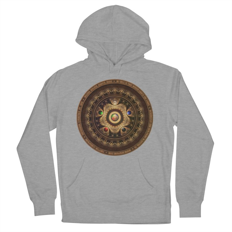 The Mox Fractal Jeweled Colors of Magic the Gathering Women's French Terry Pullover Hoody by The Fractal Art of San Jaya Prime