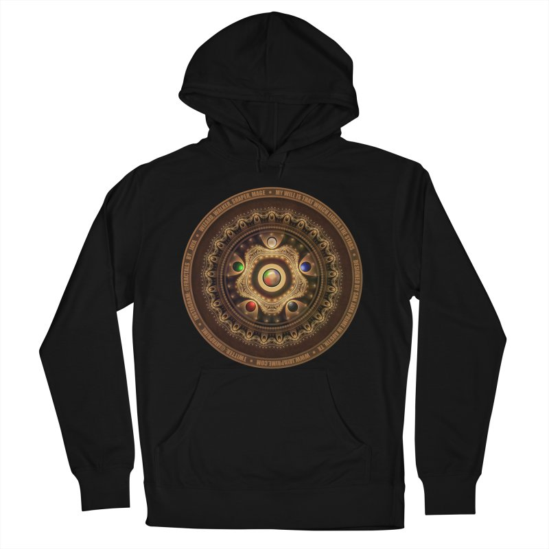 The Mox Fractal Jeweled Colors of Magic the Gathering Men's French Terry Pullover Hoody by The Fractal Art of San Jaya Prime