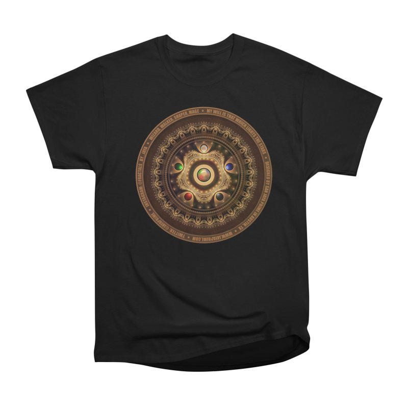 The Mox Fractal Jeweled Colors of Magic the Gathering Men's Heavyweight T-Shirt by The Fractal Art of San Jaya Prime