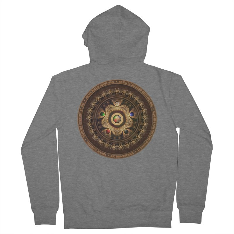 The Mox Fractal Jeweled Colors of Magic the Gathering Women's French Terry Zip-Up Hoody by The Fractal Art of San Jaya Prime