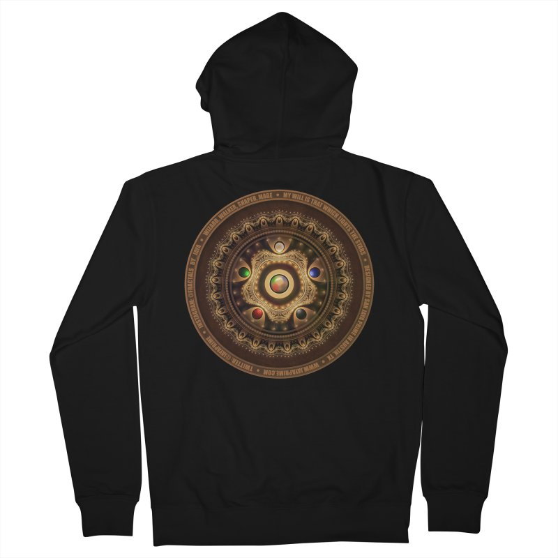 The Mox Fractal Jeweled Colors of Magic the Gathering Men's French Terry Zip-Up Hoody by The Fractal Art of San Jaya Prime