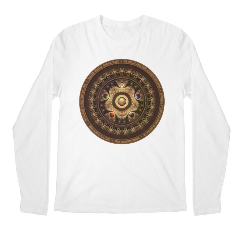 The Mox Fractal Jeweled Colors of Magic the Gathering Men's Regular Longsleeve T-Shirt by The Fractal Art of San Jaya Prime