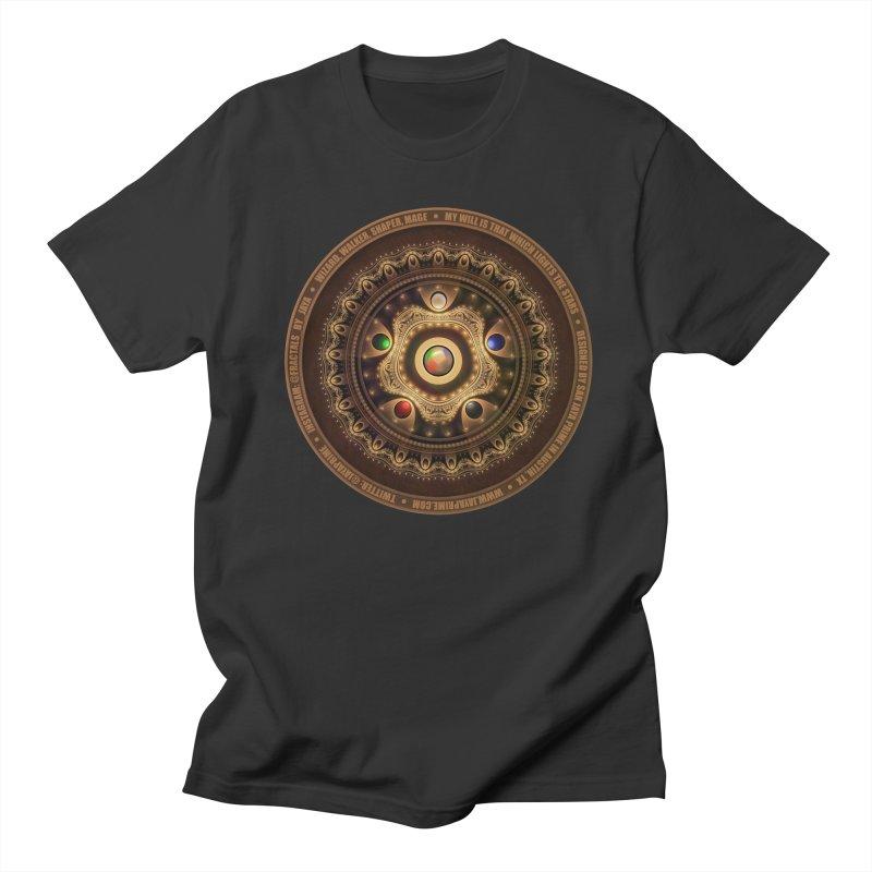 The Mox Fractal Jeweled Colors of Magic the Gathering Men's Regular T-Shirt by The Fractal Art of San Jaya Prime