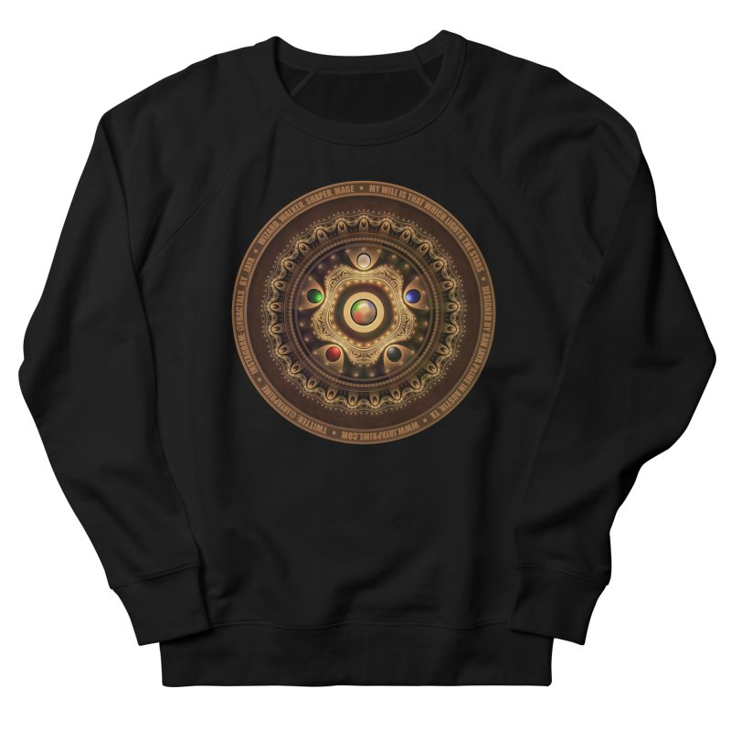 The Mox Fractal Jeweled Colors of Magic the Gathering Women's French Terry Sweatshirt by The Fractal Art of San Jaya Prime