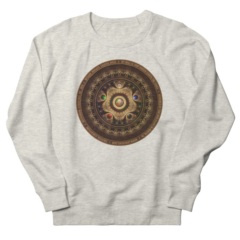 The Mox Fractal Jeweled Colors of Magic the Gathering Men's French Terry Sweatshirt by The Fractal Art of San Jaya Prime