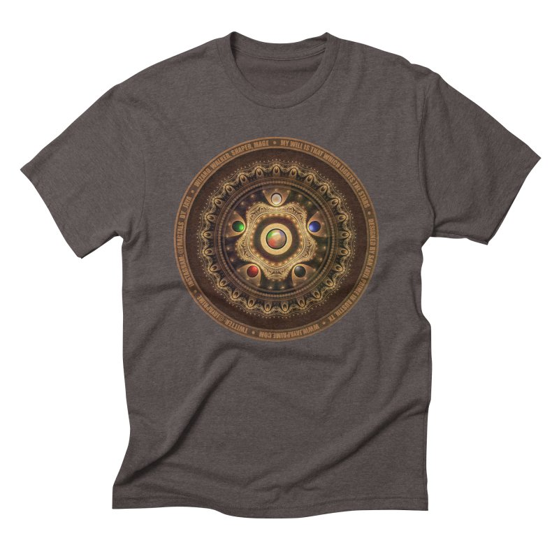 The Mox Fractal Jeweled Colors of Magic the Gathering Men's Triblend T-Shirt by The Fractal Art of San Jaya Prime