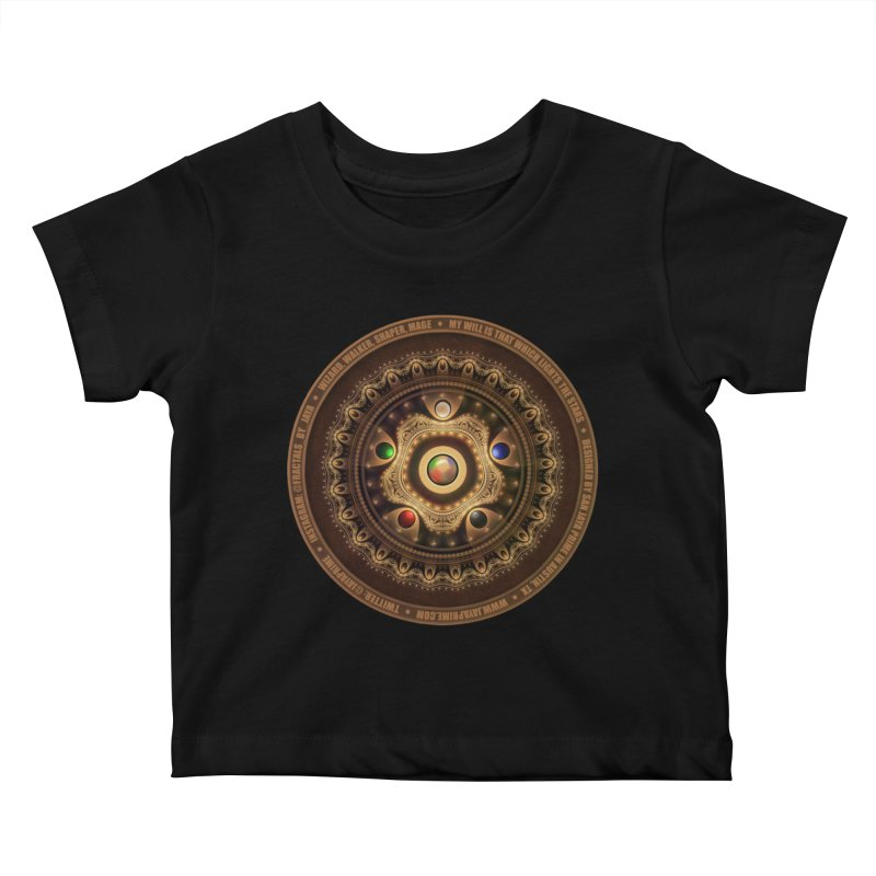 The Mox Fractal Jeweled Colors of Magic the Gathering Kids Baby T-Shirt by The Fractal Art of San Jaya Prime