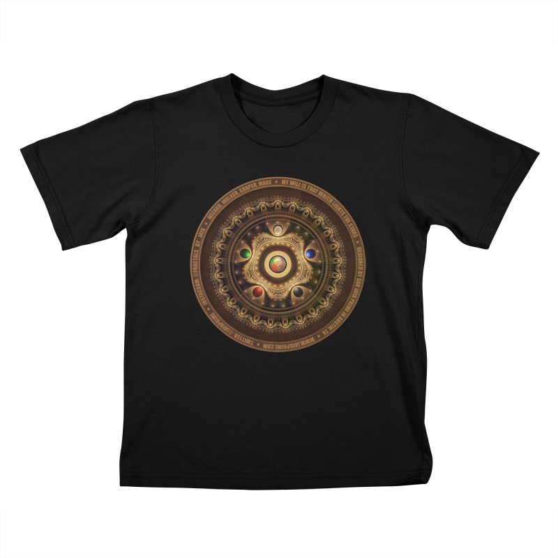 The Mox Fractal Jeweled Colors of Magic the Gathering Kids T-Shirt by The Fractal Art of San Jaya Prime