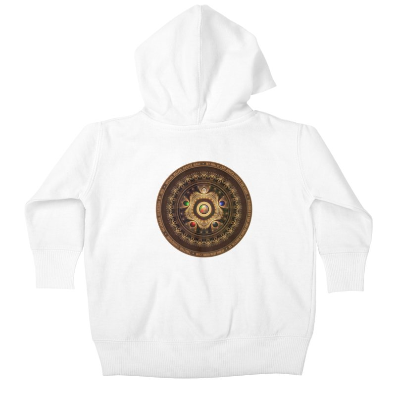 The Mox Fractal Jeweled Colors of Magic the Gathering Kids Baby Zip-Up Hoody by The Fractal Art of San Jaya Prime