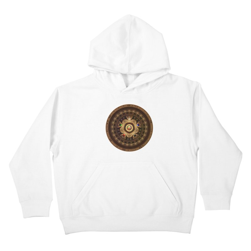 The Mox Fractal Jeweled Colors of Magic the Gathering Kids Pullover Hoody by The Fractal Art of San Jaya Prime