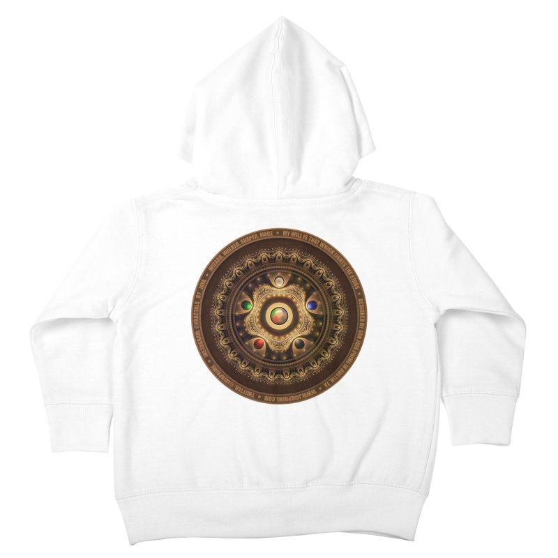 The Mox Fractal Jeweled Colors of Magic the Gathering Kids Toddler Zip-Up Hoody by The Fractal Art of San Jaya Prime