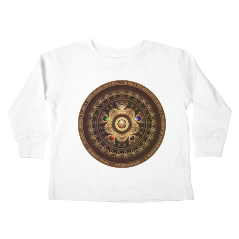 The Mox Fractal Jeweled Colors of Magic the Gathering Kids Toddler Longsleeve T-Shirt by The Fractal Art of San Jaya Prime