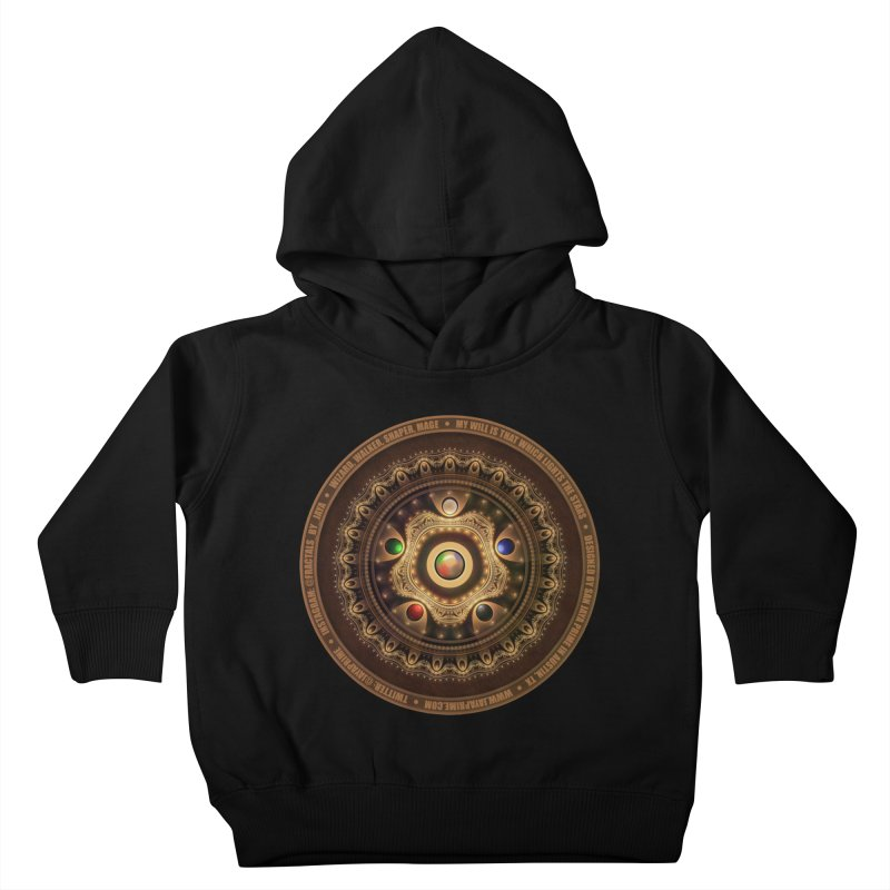 The Mox Fractal Jeweled Colors of Magic the Gathering Kids Toddler Pullover Hoody by The Fractal Art of San Jaya Prime