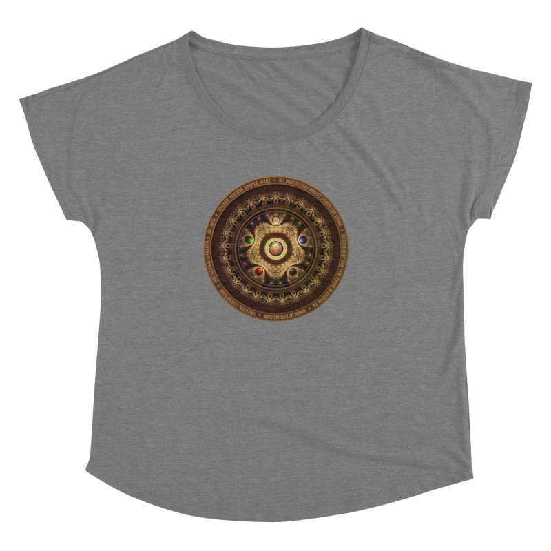 The Mox Fractal Jeweled Colors of Magic the Gathering Women's Dolman Scoop Neck by The Fractal Art of San Jaya Prime