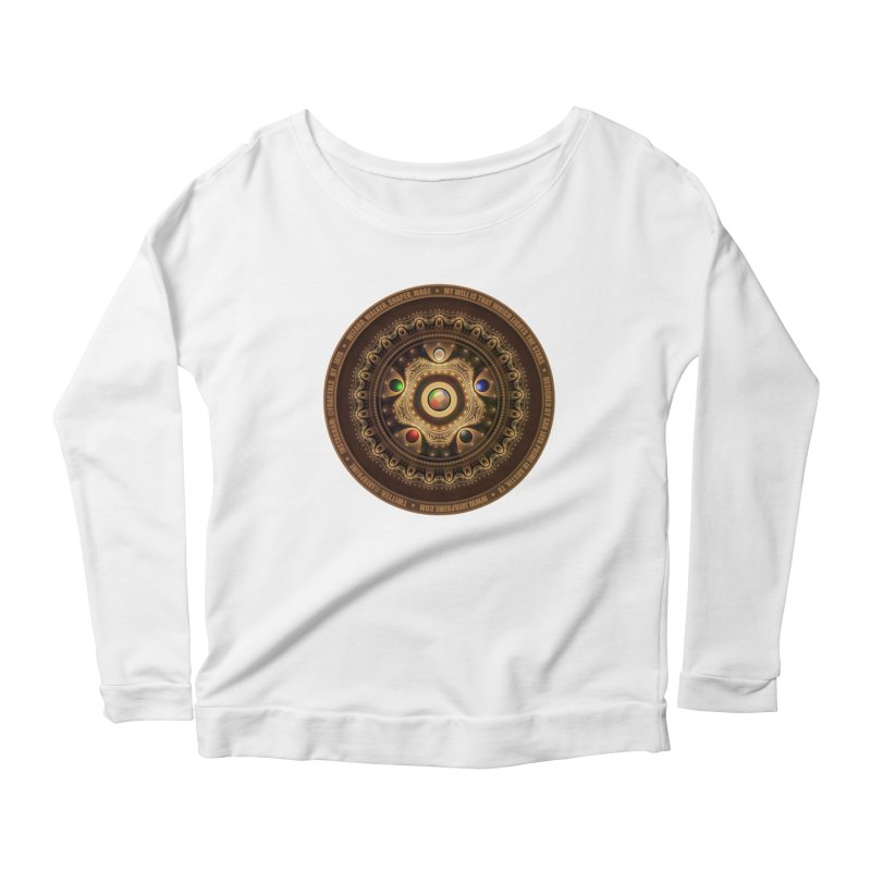 The Mox Fractal Jeweled Colors of Magic the Gathering Women's Scoop Neck Longsleeve T-Shirt by The Fractal Art of San Jaya Prime