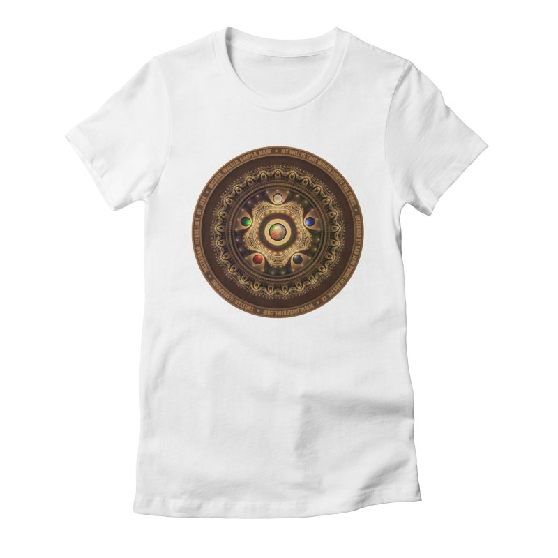 The Mox Fractal Jeweled Colors of Magic the Gathering Women's Fitted T-Shirt by The Fractal Art of San Jaya Prime