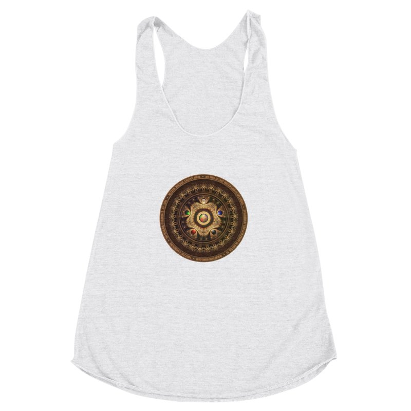 The Mox Fractal Jeweled Colors of Magic the Gathering Women's Racerback Triblend Tank by The Fractal Art of San Jaya Prime