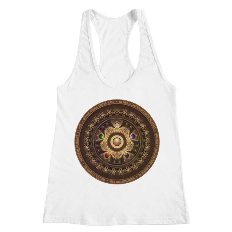 The Mox Fractal Jeweled Colors of Magic the Gathering Women's Racerback Tank by The Fractal Art of San Jaya Prime