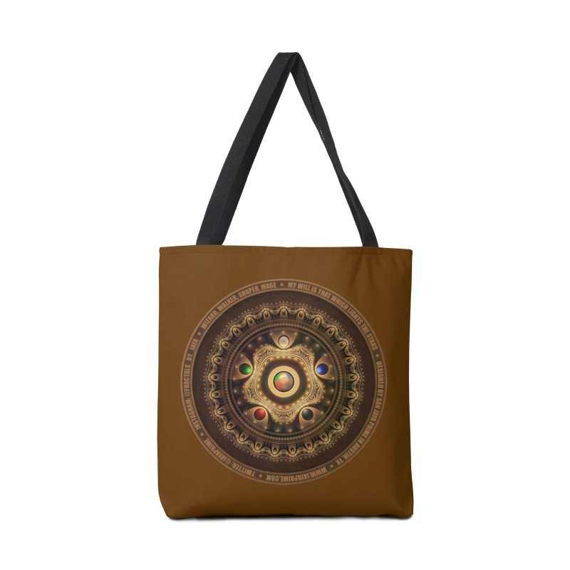 The Mox Fractal Jeweled Colors of Magic the Gathering Accessories Tote Bag Bag by The Fractal Art of San Jaya Prime