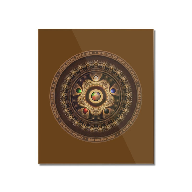 The Mox Fractal Jeweled Colors of Magic the Gathering Home Mounted Acrylic Print by The Fractal Art of San Jaya Prime
