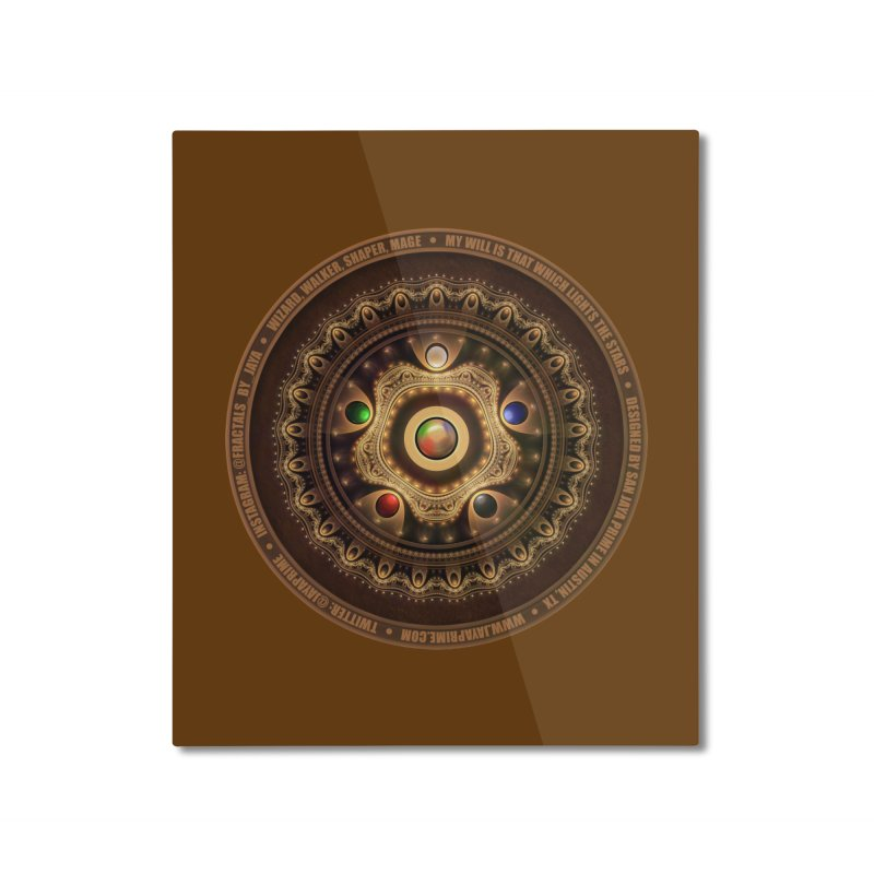 The Mox Fractal Jeweled Colors of Magic the Gathering Home Mounted Aluminum Print by The Fractal Art of San Jaya Prime