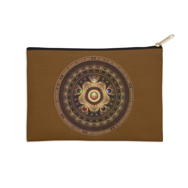 The Mox Fractal Jeweled Colors of Magic the Gathering Accessories Zip Pouch by The Fractal Art of San Jaya Prime