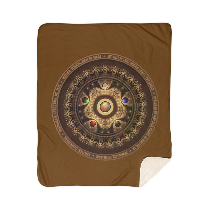 The Mox Fractal Jeweled Colors of Magic the Gathering Home Sherpa Blanket Blanket by The Fractal Art of San Jaya Prime