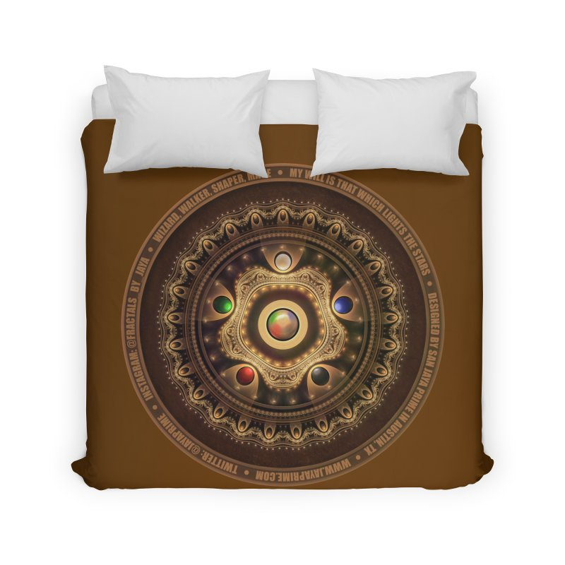 The Mox Fractal Jeweled Colors of Magic the Gathering Home Duvet by The Fractal Art of San Jaya Prime