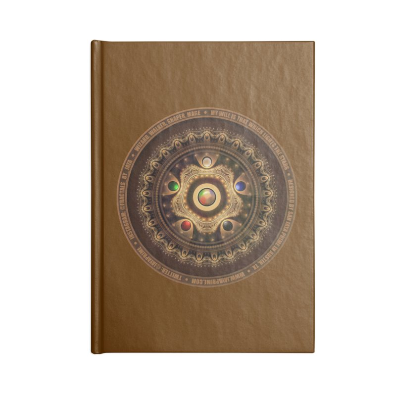 The Mox Fractal Jeweled Colors of Magic the Gathering Accessories Lined Journal Notebook by The Fractal Art of San Jaya Prime