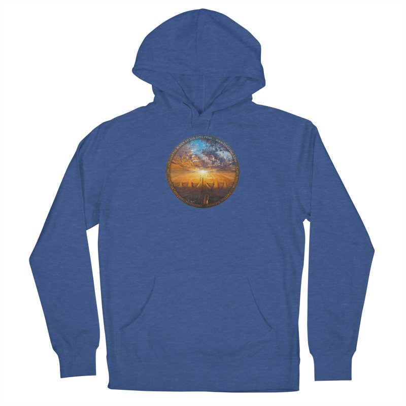 A Stained Glass Fractal Sunset Over Tianjin, China Women's Pullover Hoody by The Fractal Art of San Jaya Prime