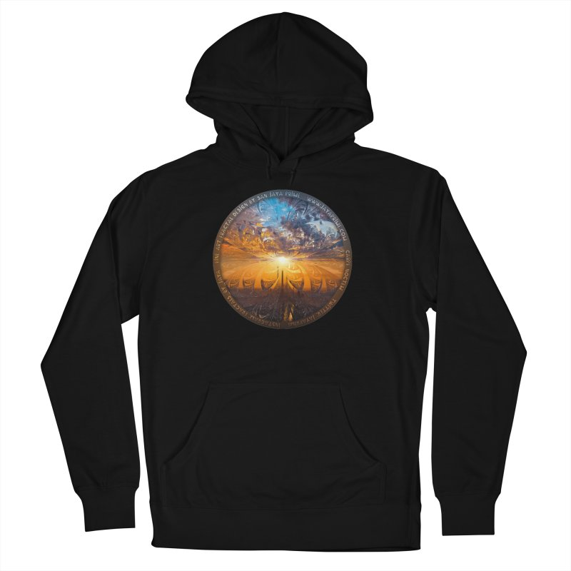 A Stained Glass Fractal Sunset Over Tianjin, China Women's French Terry Pullover Hoody by The Fractal Art of San Jaya Prime