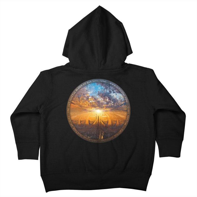 A Stained Glass Fractal Sunset Over Tianjin, China Kids Toddler Zip-Up Hoody by The Fractal Art of San Jaya Prime