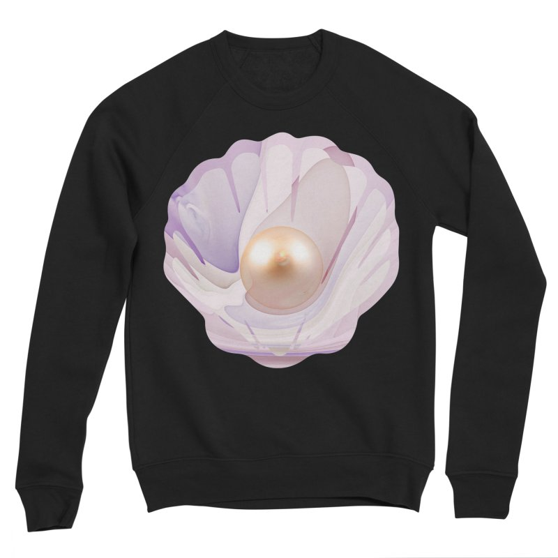 The Birth of a Pearl in a World Full of Oysters Men's Sponge Fleece Sweatshirt by The Fractal Art of San Jaya Prime