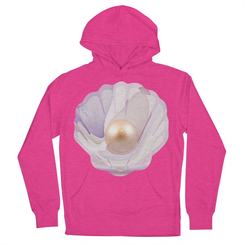 The Birth of a Pearl in a World Full of Oysters Men's French Terry Pullover Hoody by The Fractal Art of San Jaya Prime