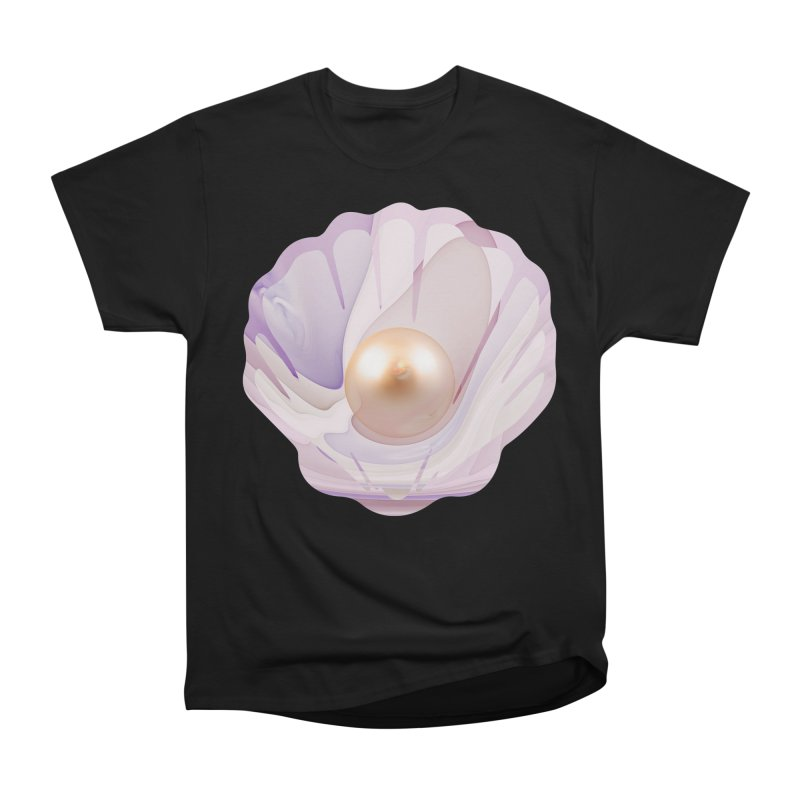 The Birth of a Pearl in a World Full of Oysters Men's Heavyweight T-Shirt by The Fractal Art of San Jaya Prime