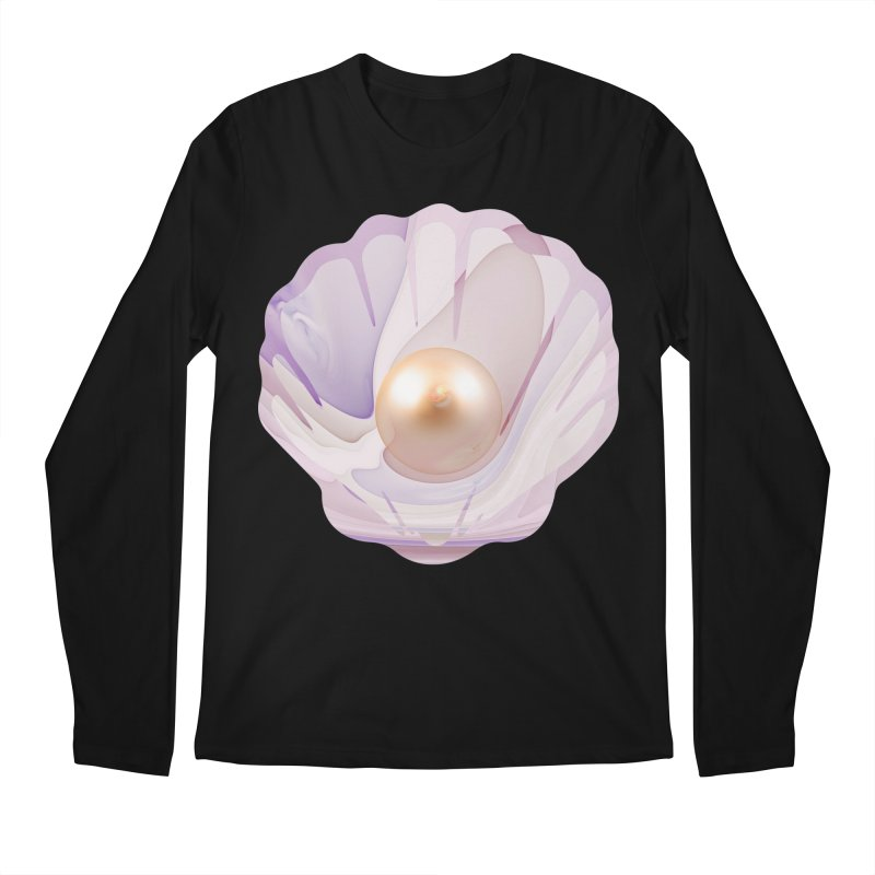 The Birth of a Pearl in a World Full of Oysters Men's Regular Longsleeve T-Shirt by The Fractal Art of San Jaya Prime