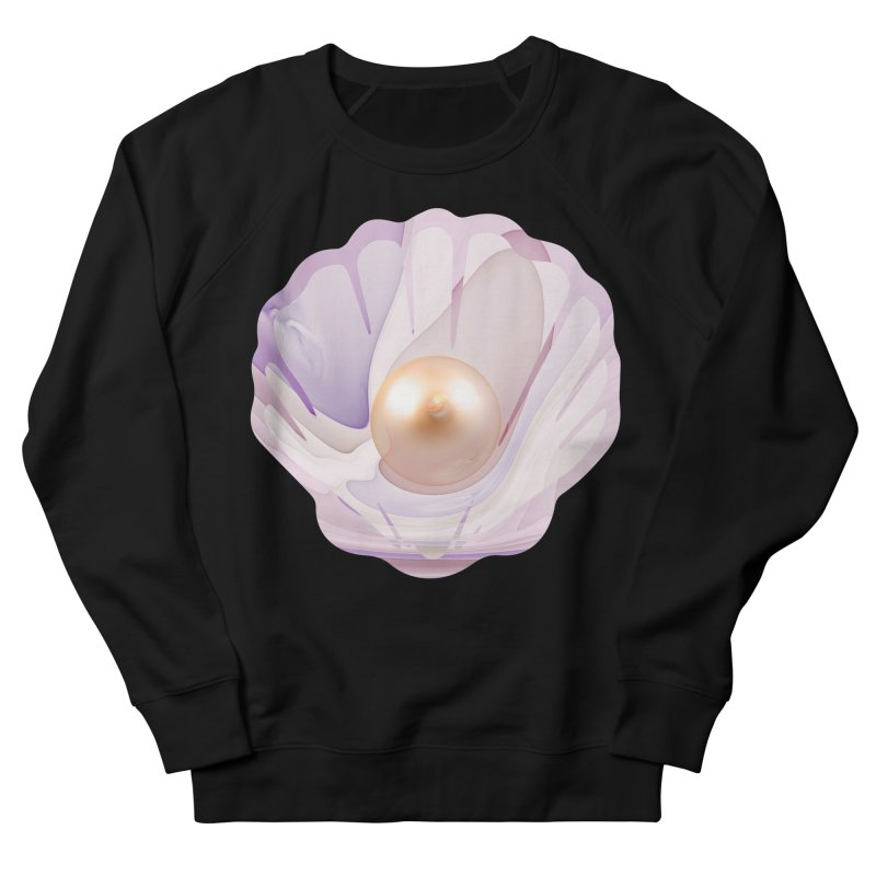 The Birth of a Pearl in a World Full of Oysters Men's French Terry Sweatshirt by The Fractal Art of San Jaya Prime
