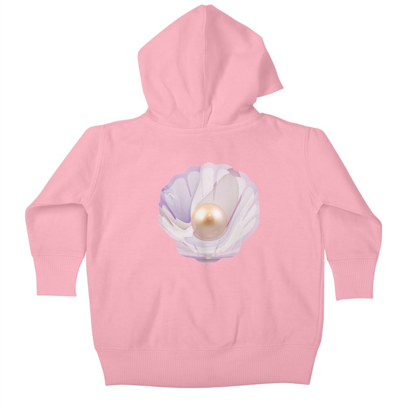 The Birth of a Pearl in a World Full of Oysters Kids Baby Zip-Up Hoody by The Fractal Art of San Jaya Prime