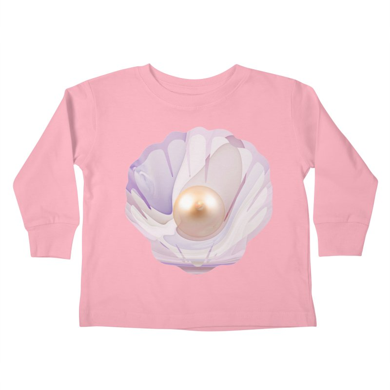 The Birth of a Pearl in a World Full of Oysters Kids Toddler Longsleeve T-Shirt by The Fractal Art of San Jaya Prime