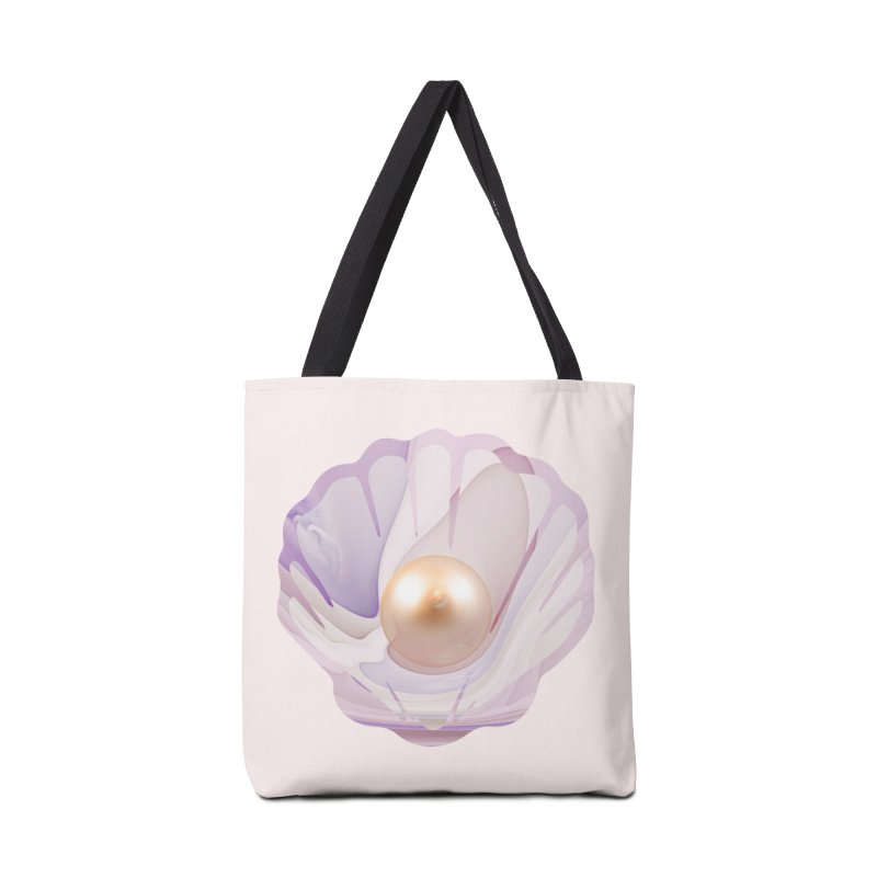 The Birth of a Pearl in a World Full of Oysters Accessories Tote Bag Bag by The Fractal Art of San Jaya Prime