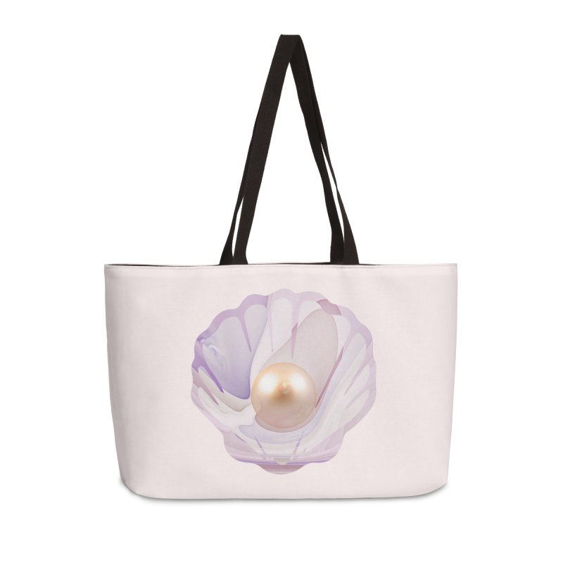 The Birth of a Pearl in a World Full of Oysters Accessories Weekender Bag Bag by The Fractal Art of San Jaya Prime