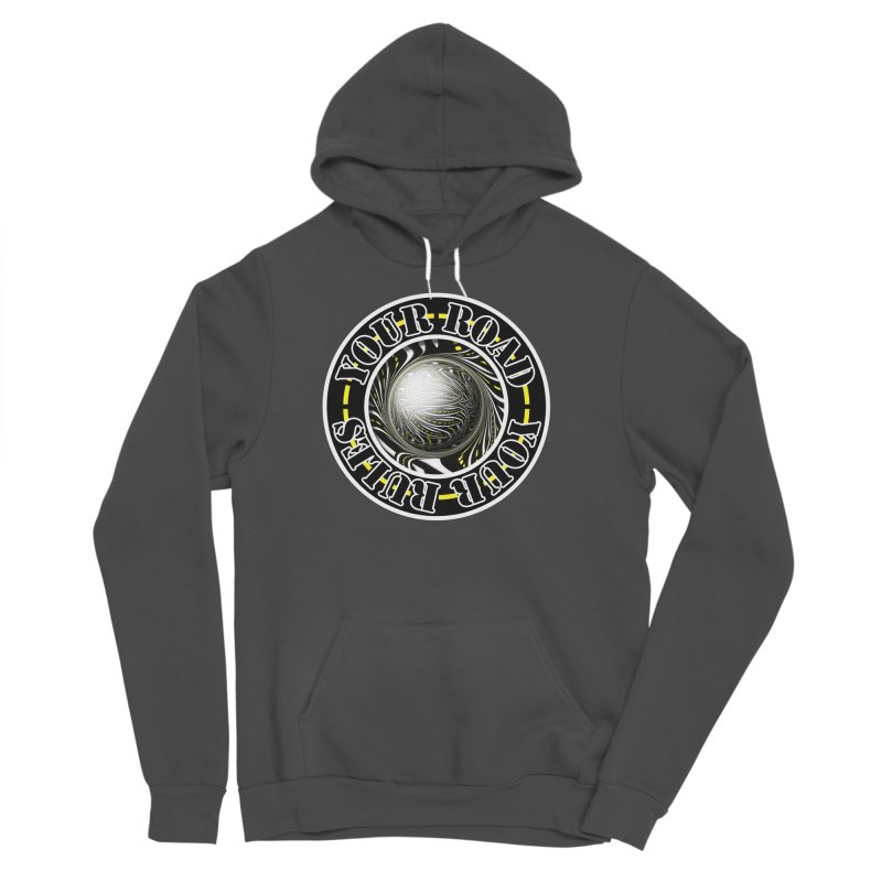 Travel Lover's Motto of Your Road, Your Rules Women's Sponge Fleece Pullover Hoody by The Fractal Art of San Jaya Prime