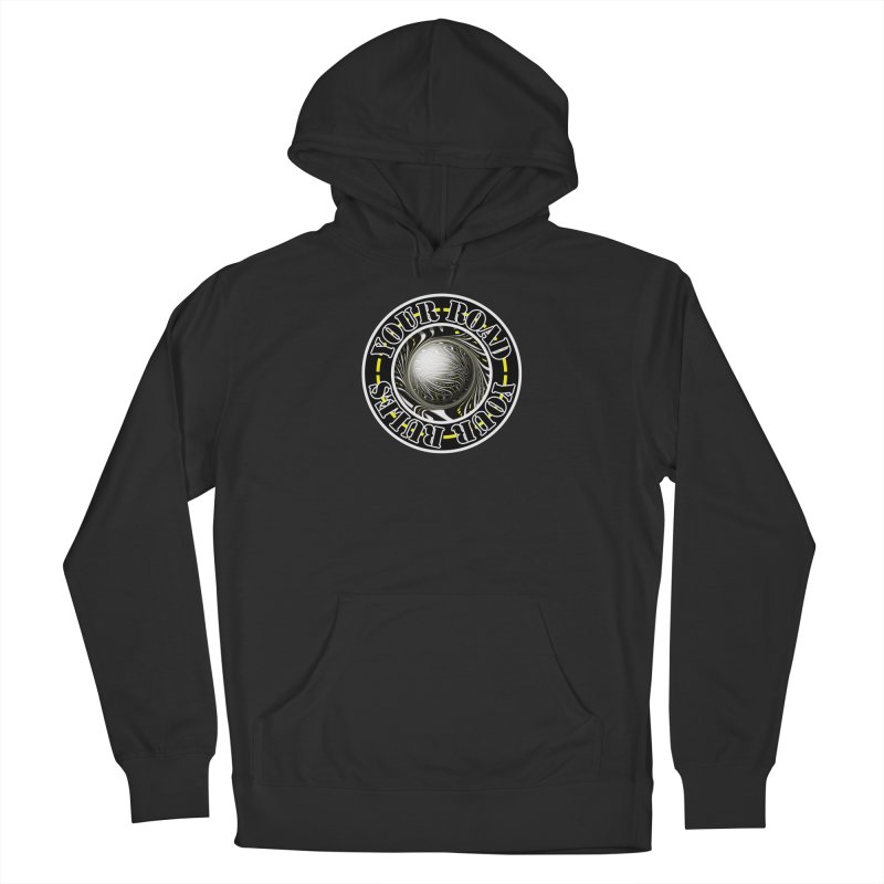 Travel Lover's Motto of Your Road, Your Rules Men's Pullover Hoody by The Fractal Art of San Jaya Prime