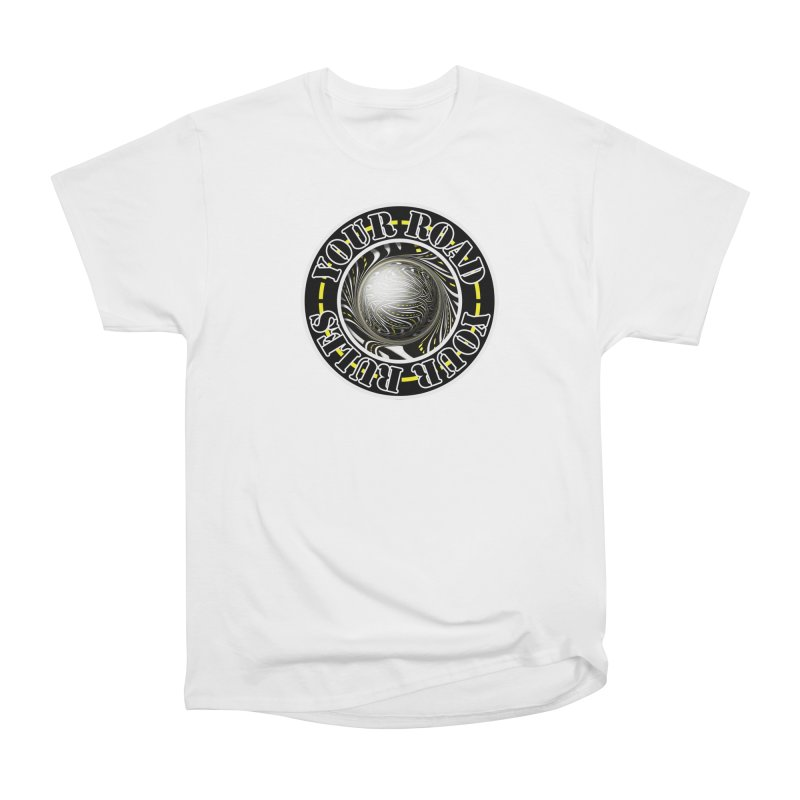 Travel Lover's Motto of Your Road, Your Rules Men's Heavyweight T-Shirt by The Fractal Art of San Jaya Prime