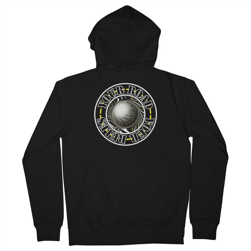 Travel Lover's Motto of Your Road, Your Rules Women's French Terry Zip-Up Hoody by The Fractal Art of San Jaya Prime
