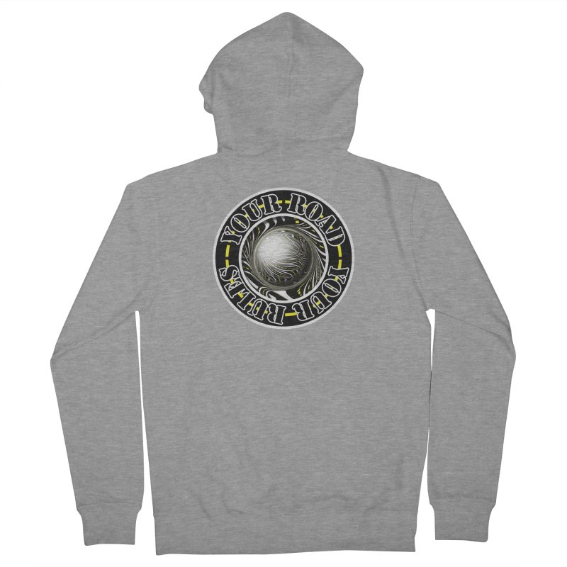 Travel Lover's Motto of Your Road, Your Rules Men's French Terry Zip-Up Hoody by The Fractal Art of San Jaya Prime