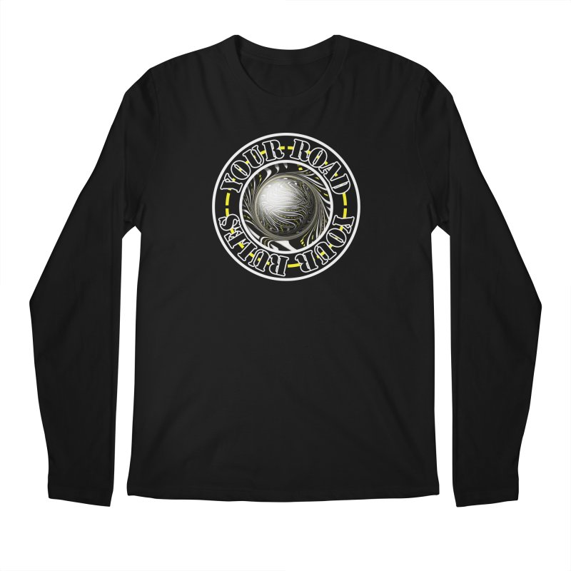 Travel Lover's Motto of Your Road, Your Rules Men's Regular Longsleeve T-Shirt by The Fractal Art of San Jaya Prime